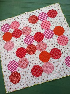 Very berry baby quilt / wall hanging by quiltstudio444 on Etsy