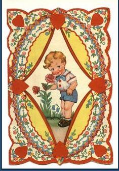 Valentijnskaarten maken, geschiedenis van valentijn , oude valentijnskaarten Old Postcards, Christmas Ornaments, Holiday Decor, Christmas Jewelry, Christmas Decorations, Christmas Decor