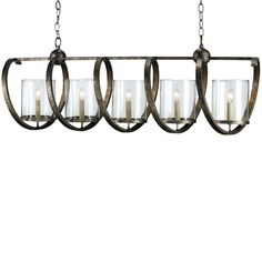 Maximus Rectangular Chandelier Lighting | Currey and Company | Home ...