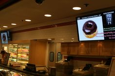 Tiffany's Bakery in Philadelphia installs digital signage with a 'call forwarding' system developed by Acquire.