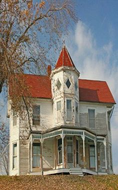 forgotten beauty -I so want an old house, two stories, front porch, solitude, view