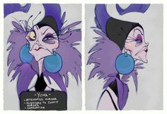 Villain Mugshots Yzma by HaaappyAccidents on Etsy