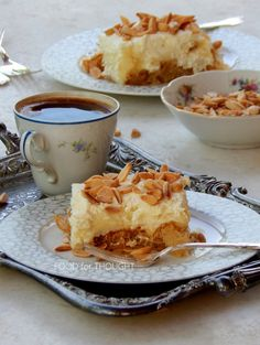 Food for thought The Kitchen Food Network, Greek Desserts, Food For Thought, Food Network Recipes, French Toast, Pudding, Breakfast, Cakes, Breakfast Cafe