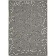 Dark Grey/ Light Grey Indoor Outdoor Rug (8' x 11'2) | Overstock.com Shopping - The Best Deals on 7x9 - 10x14 Rugs
