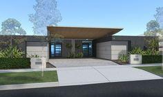 Waterfront Dual occupancy development. Residential architecture. Sydney, Australia