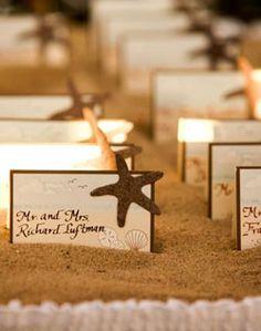 beach idea place cards