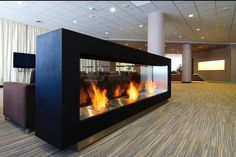 modern commercial fireplace outdoor good for lobby