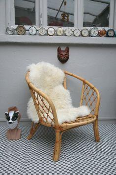 Mettre peau sur Fauteuil Rotin !!!!! Fauteuil rotin # Madamelabroc.com