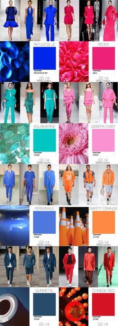Trend Council - Trend predictions S/S 2014 These are the colors that I believe are found everywhere on the PreSpring Runway
