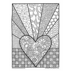 Coloring Page Valentines Day Abstract Doodle Zentangle Paisley Coloring pages colouring adult detailed advanced printabl Adult Coloring Pages, Coloring Pages For Grown Ups, Valentine Coloring Pages, Colouring Pages, Printable Coloring Pages, Coloring Books, Heart Coloring Pages, Doodle Coloring, Mandala Coloring