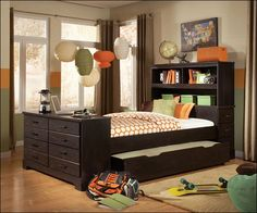 Full Size Trundle Bed With Storage Drawers