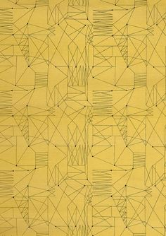 "vjeranski: "" ""Graphica"" is a furnishing fabric sample from British textile design maven Lucienne Day for Heal's. 1954, from The Fifties. """