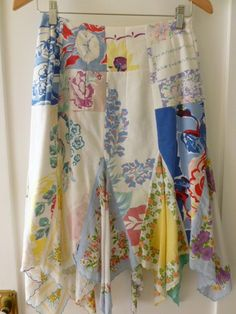 Vintage handkerchief skirt, and LOTS of other ideas for using the vintage hankies!!!!