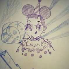 ✏ Clown Lady #Doodle Doodles, Lady, Instagram Posts, Fictional Characters, Fantasy Characters, Donut Tower, Doodle, Zentangle