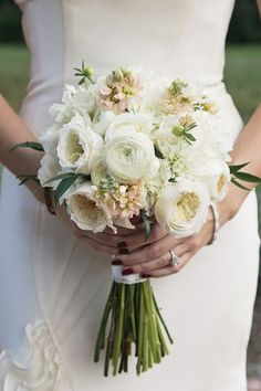 #1 Bouquet _garden roses, lisanthius, dahlias, ranuculus and blush spray roses accented with seeded eucalyptus
