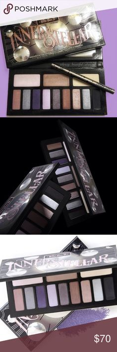 🌓☄️💫Kat Von D- INTERSTELLAR Palette!! 💫☄️🌓 Actual photos of palette coming soon!! Brand New and Authentic! 💯💯 This is a LIMITED EDITION eyeshadow palette that is no longer made or sold in stores!! 🙌🙌 This is why it is priced as it is. It's GORGEOUS and FULL of Pigment!! One of her BEST Sellers!! 🙌🙌 Gifts With Purchase!! 😘😘 Bundle and SAVE!! 🎉🎉 Please note it does have a little nick in the black - as you can see it is nothing big. Just wanted to make note of it. The liner…
