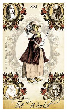 The World - #tarot #tarotdecks From http://theisidoretarot.com - Like the deck?  https://www.etsy.com/listing/192875045/the-isidore-tarot-a-neo-victorian