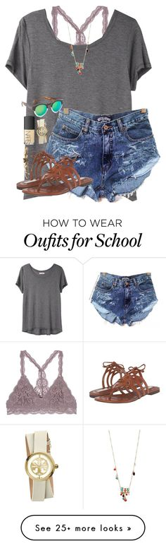 """Love having no school"" by scpprep on Polyvore featuring Organic by John Patrick, Cole Haan, Illesteva, Betsey Johnson, NARS Cosmetics, Tory Burch and Wet Seal"