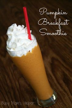 Pumpkin Breakfast Smoothie / Busy Mom's Helper