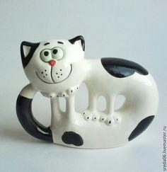 Статуэтки ручной работы. Ярмарка Мастеров - ручная работа кот , гуляющий сам по себе. Handmade.