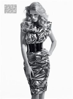 From Fall Winter 2013-14 Collections: Metallic fabrics - click on the photo to see all garments and accessories in Photogallery