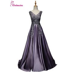 Free shipping In stock Beaded Evening Dresses A-Line Colorful Chiffon  Sleeveless vestido de festa Party Dresses Evening Gown  c09bed0dd8fb