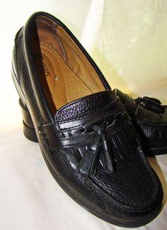 Johnston & Murphy Loafers Shoes Tassel dress casual Black Italian Mens 13 N