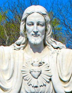 The statue of Jesus is found in front of Saint Thomas the Apostle Church, located on Berkshire Valley Road, Oak Ridge, NJ.