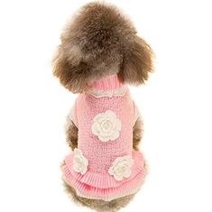 Searching for dog ramp suv  for sale JoyTale Turtleneck Flower Studded Pet Dog Sweater Apparel, Pink Female Girl Dog Winter Clothes, Fits Small Puppy Breeds, Back Length 8.2″ - http://dogramp.org/product/joytale-turtleneck-flower-studded-pet-dog-sweater-apparel-pink-female-girl-dog-winter-clothes-fits-small-puppy-breeds-back-length-8-2-2/