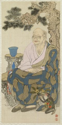 "from ""Album Depicting the Sixteen Lohans (Arhats)"", 1851 by Shodo Sho"