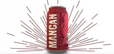 Mancan red wine in a can designed for men and their fragile masculinity