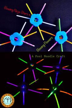 Glowing Ninja Stars and Glowing Flowers | A Little Pinch of Perfect