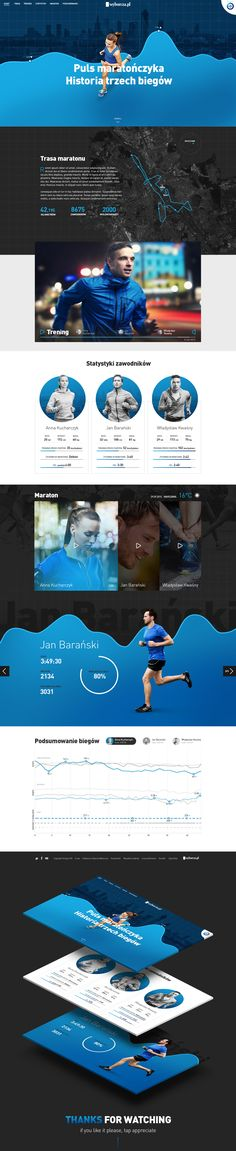 Marathoner's pulse - Website on Behance