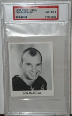 PSA 4 1965 Coca Cola Don Marshall New York Rangers Hockey Card Sold And Photographed By Thegoodoldboys by Coca Cola. $9.00. A great rare item!      ***For anyone that wants to buy more than 1 from me, Thegoodoldboys***  Amazon won't let me fix the shipping, so what has to be done is when you buy multiple items from me, you will get charged shipping for each one.  What I can do is then refund you the excess shipping after I ship everything out to you.