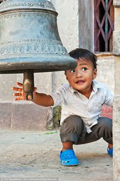 A small boy near the bell by Irina Zavyalova, via 500px. Kathmandu, Nepal