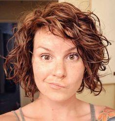 Short Layered Curly Bob Haircuts