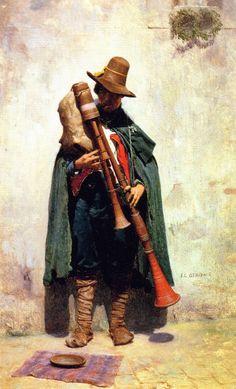 Jean-Léon Gérôme - Italienne Jouer à pifferaro