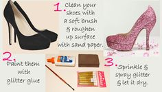 How To Glitter Shoes