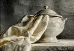 "Love this painting entitled ""The White Tureen"" by Irish artist Mark O'Neill"