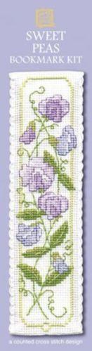 Sweet Peas Bookmark Cross Stitch Kit - Textile Heritage