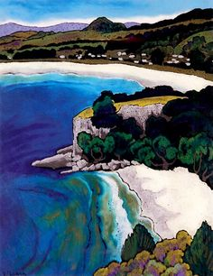 Wendy Leach Artist - New Zealand New Zealand Art, Nz Art, Kiwiana, A Moment In Time, Middle Earth, Brochures, Landscape Paintings, Beaches, Artworks