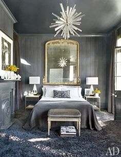SHOWSTOPPING GRAY! I love this bedroom