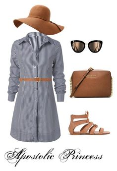 Tan and Stripes by apostolicprincess on Polyvore featuring Dorothy Perkins and MICHAEL Michael Kors