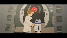 """star wars trilogy in paper animation! song featured is """"tatooine"""" by jeremy messersmith"""