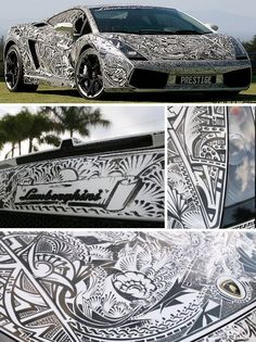 Beautiful car drawings...Like a Lambourghini needs anything added - but beautiful!