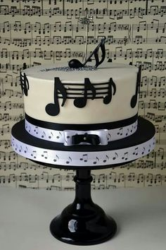 48 Ideas For Music Theme Birthday Cake Music Themed Cakes, Music Cakes, Fancy Cakes, Cute Cakes, Fondant Cakes, Cupcake Cakes, Bolo Musical, Music Note Cake, Music Theme Birthday
