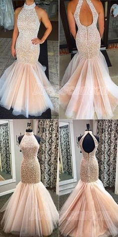 Real Sexy Prom Dresses,Mermaid Bead