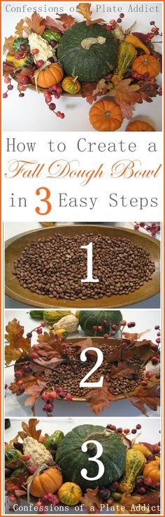 CONFESSIONS OF A PLATE ADDICT How to Create a Fall Dough Bowl in Three Easy Steps