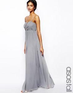 ASOS TALL - Maxi robe bandeau ornementée