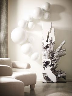 Made of resin in white and silver leaf finish, Freeform Sculpture is ready to impress your guests. Silver Wall Decor, 3d Wall Decor, Silver Walls, Wall Art, Wall Décor, Recycled Home Decor, Diy Home Decor, Wood Resin Table, Phillips Collection